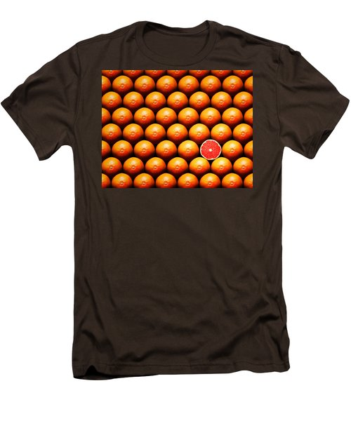 Grapefruit Slice Between Group Men's T-Shirt (Slim Fit) by Johan Swanepoel