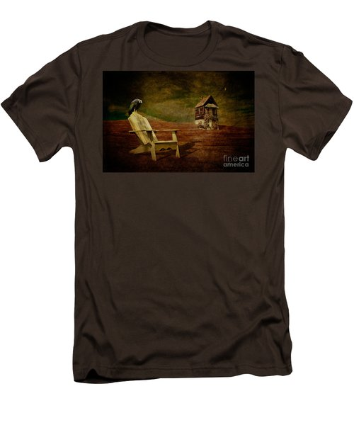 Hard Times Men's T-Shirt (Slim Fit) by Lois Bryan