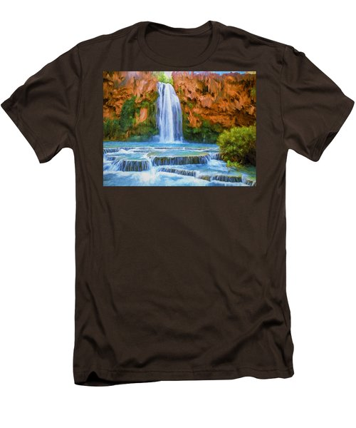 Havasu Falls Men's T-Shirt (Slim Fit) by David Wagner
