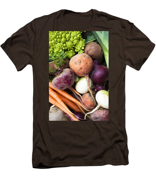 Mixed Veg Men's T-Shirt (Slim Fit) by Anne Gilbert