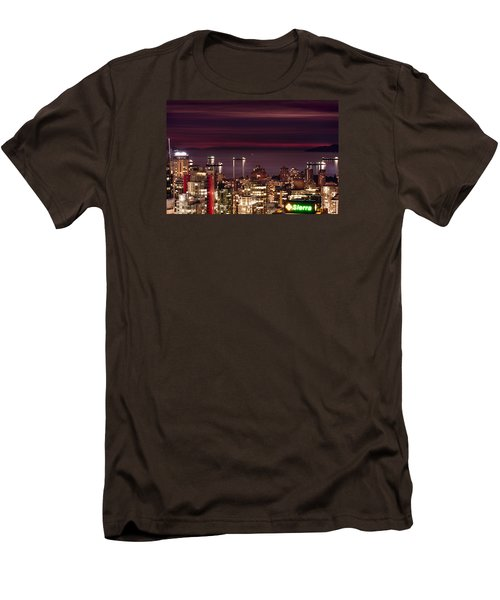 Men's T-Shirt (Slim Fit) featuring the photograph Romantic English Bay Mdcci by Amyn Nasser