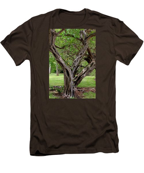 Men's T-Shirt (Slim Fit) featuring the photograph Spooky Tree by Rosalie Scanlon