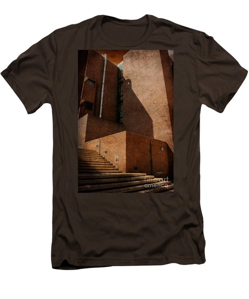 Men's T-Shirt (Slim Fit) featuring the photograph Stairway To Nowhere by Lois Bryan
