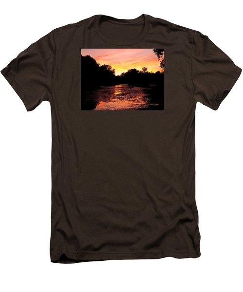 Men's T-Shirt (Slim Fit) featuring the photograph Sunset Near Rosemere - Qc by Juergen Weiss