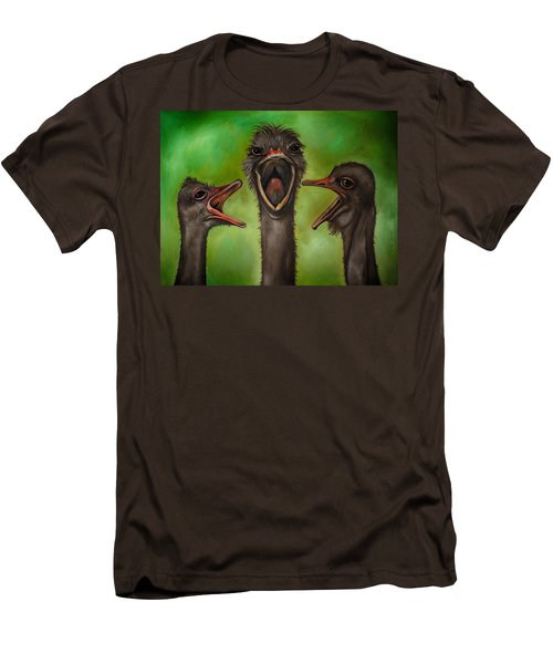 The 3 Tenors Edit 2 Men's T-Shirt (Slim Fit) by Leah Saulnier The Painting Maniac