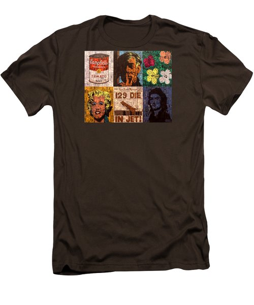 The Six Warhol's Men's T-Shirt (Slim Fit) by Brent Andrew Doty