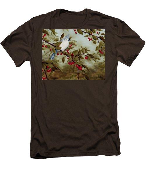 Tufted Titmouse Men's T-Shirt (Slim Fit) by Rick Bainbridge