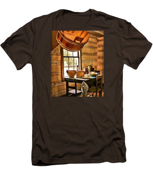 Men's T-Shirt (Slim Fit) featuring the digital art Country Kitchen by Mary Almond