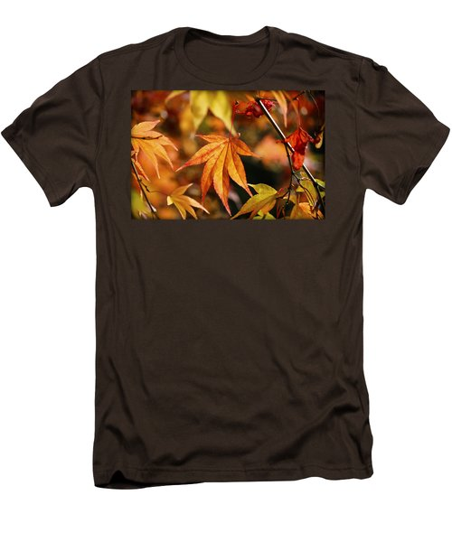 Men's T-Shirt (Slim Fit) featuring the photograph Golden Fall. by Clare Bambers