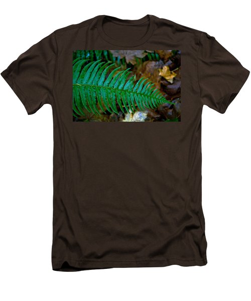Men's T-Shirt (Slim Fit) featuring the photograph Green Fern by Tikvah's Hope