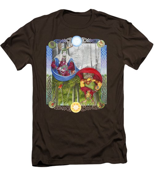 The Holly King And The Oak King Men's T-Shirt (Slim Fit) by Melissa A Benson