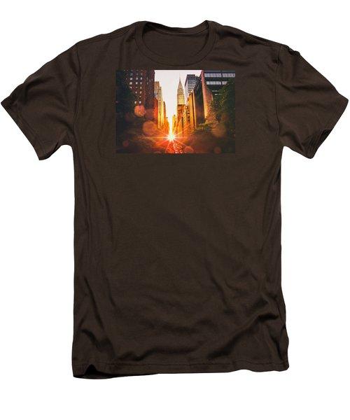 New York City Men's T-Shirt (Slim Fit) by Vivienne Gucwa