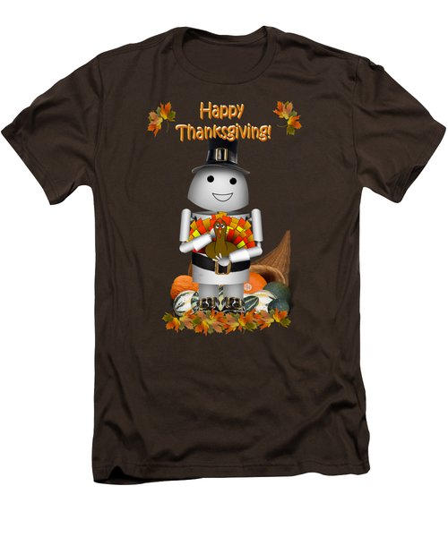 Robo-x9 The Pilgrim Men's T-Shirt (Slim Fit) by Gravityx9  Designs