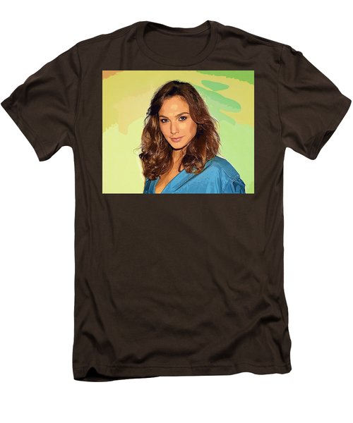 Gal Gadot Art Men's T-Shirt (Slim Fit) by Best Actors