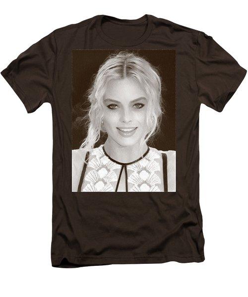 Actress Margot Robbie Men's T-Shirt (Slim Fit) by Best Actors