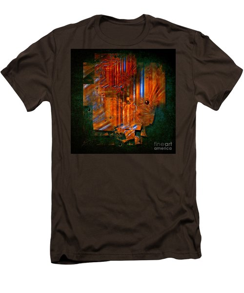 Men's T-Shirt (Slim Fit) featuring the painting Abstract Fields by Alexa Szlavics