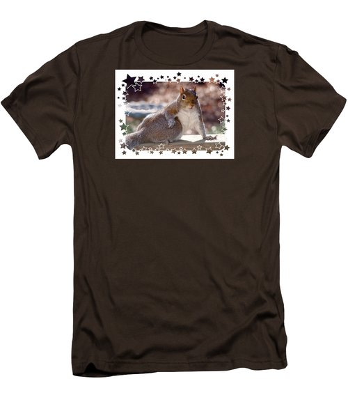 Men's T-Shirt (Slim Fit) featuring the photograph The Show Off by Sue Melvin