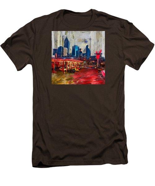Atlanta Skyline 231 1 Men's T-Shirt (Slim Fit) by Mawra Tahreem