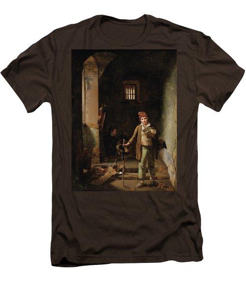 Bedroom Or The Little Groundhog Shower Men's T-Shirt (Slim Fit) by MotionAge Designs