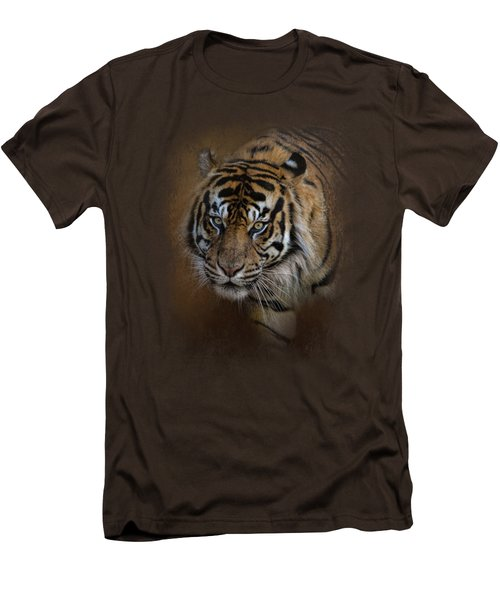 Bengal Stare Men's T-Shirt (Slim Fit) by Jai Johnson