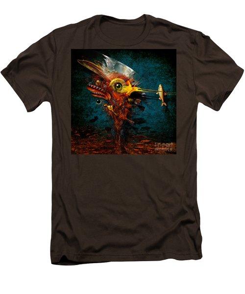 Men's T-Shirt (Slim Fit) featuring the painting Big Hunter by Alexa Szlavics