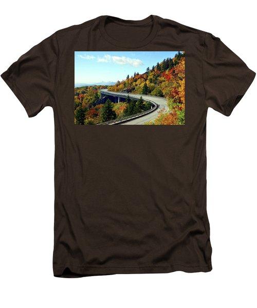 Men's T-Shirt (Slim Fit) featuring the photograph Blue Ridge Parkway Viaduct by Meta Gatschenberger