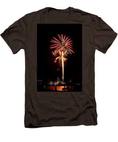 Men's T-Shirt (Slim Fit) featuring the photograph Celebration Fireworks by Bill Barber