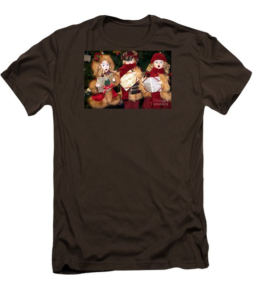 Men's T-Shirt (Slim Fit) featuring the photograph Christmas Trio by Vinnie Oakes