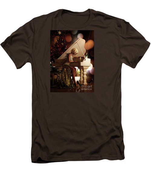 Men's T-Shirt (Slim Fit) featuring the digital art Counting Blessings by Shanina Conway