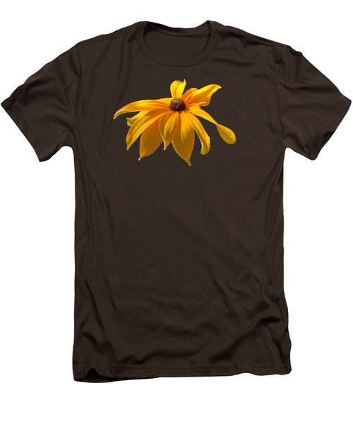 Daisy - Flower - Transparent Men's T-Shirt (Slim Fit) by Nikolyn McDonald
