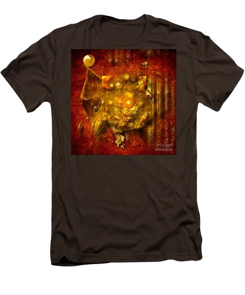 Men's T-Shirt (Slim Fit) featuring the painting Dimension Hole by Alexa Szlavics