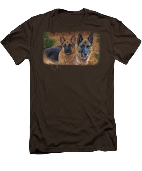 Enjoying The Fall Men's T-Shirt (Slim Fit) by Lucie Bilodeau