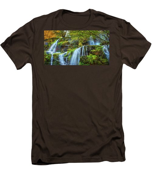 Men's T-Shirt (Slim Fit) featuring the photograph Flow by John Poon