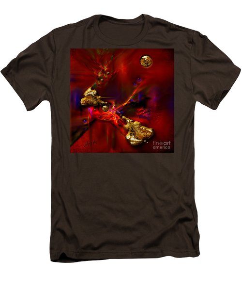 Men's T-Shirt (Slim Fit) featuring the painting Gold Foundry by Alexa Szlavics