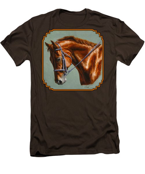 Horse Painting - Focus Men's T-Shirt (Slim Fit) by Crista Forest