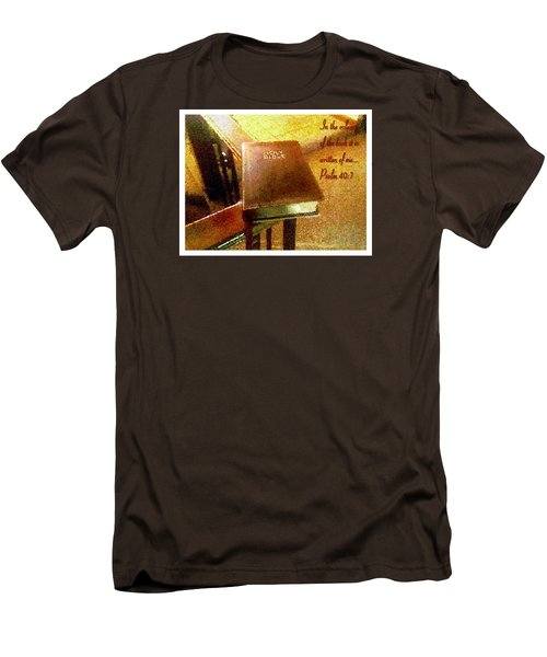 Men's T-Shirt (Slim Fit) featuring the photograph In The Volume Of The Book by Glenn McCarthy Art and Photography