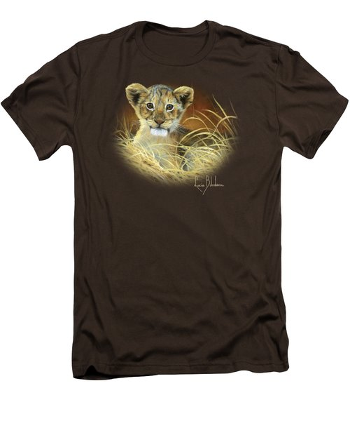 King To Be Men's T-Shirt (Slim Fit) by Lucie Bilodeau