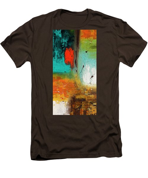 Men's T-Shirt (Slim Fit) featuring the painting Landmarks by Carmen Guedez