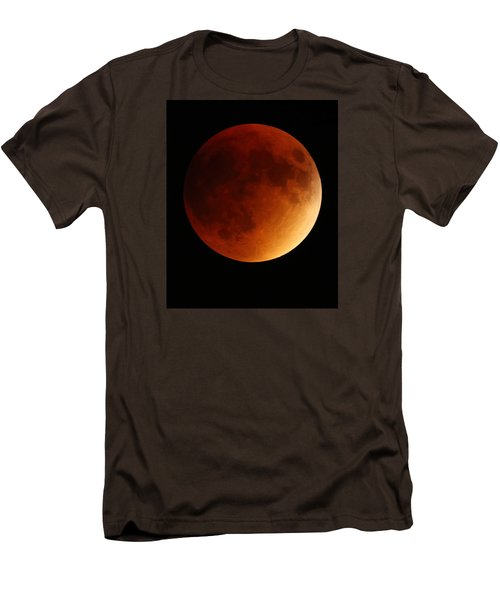 Men's T-Shirt (Slim Fit) featuring the photograph Lunar Eclipse 1 by Coby Cooper