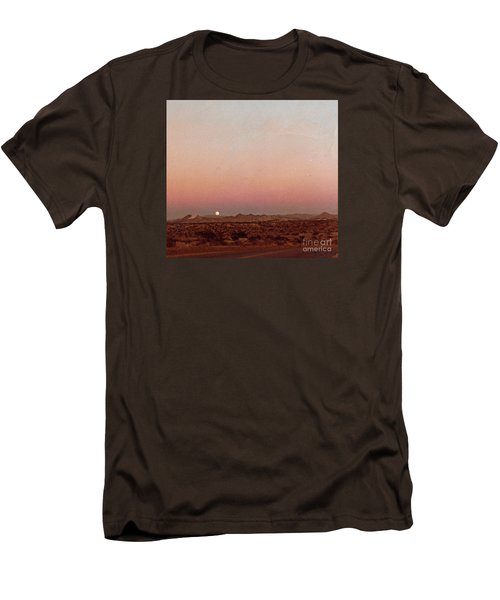 Men's T-Shirt (Slim Fit) featuring the digital art Mojave Sunset by Walter Chamberlain