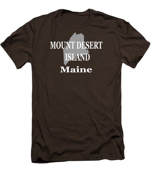 Mount Desert Island Maine State City And Town Pride  Men's T-Shirt (Slim Fit) by Keith Webber Jr