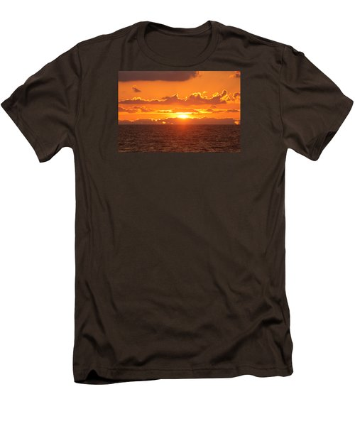 Men's T-Shirt (Slim Fit) featuring the photograph Orange Skies At Dawn by Robert Banach