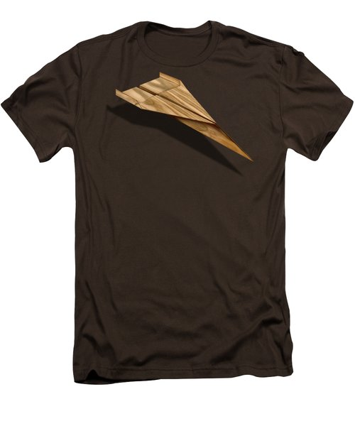 Paper Airplanes Of Wood 3 Men's T-Shirt (Slim Fit) by YoPedro