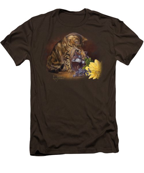 Paw In The Vase Men's T-Shirt (Slim Fit) by Lucie Bilodeau