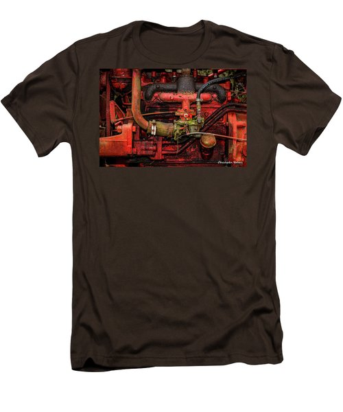 Men's T-Shirt (Slim Fit) featuring the photograph Red by Christopher Holmes