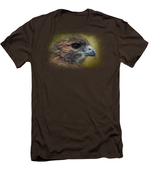 Red Tailed Hawk At Reelfoot Men's T-Shirt (Slim Fit) by Jai Johnson