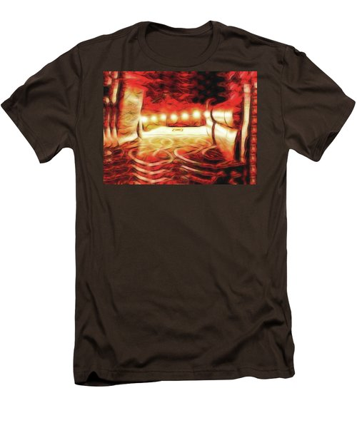 Men's T-Shirt (Slim Fit) featuring the digital art Reservations - Row C by Wendy J St Christopher