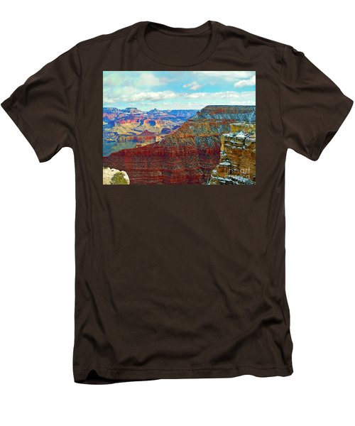 Men's T-Shirt (Slim Fit) featuring the photograph Rock Solid by Roberta Byram