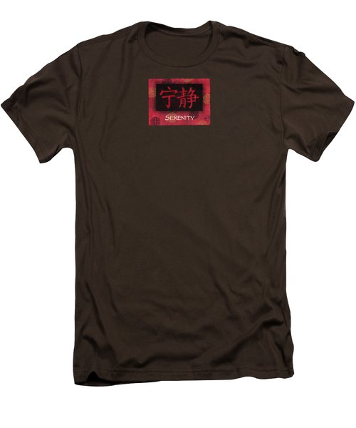 Men's T-Shirt (Slim Fit) featuring the painting Serenity - Chinese by Hailey E Herrera