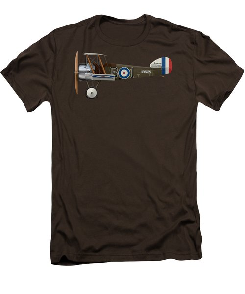 Sopwith Camel - B3889 - Side Profile View Men's T-Shirt (Slim Fit) by Ed Jackson